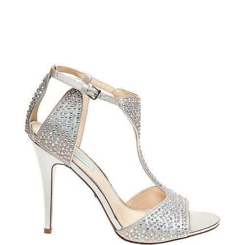 IDO Blue By Betsey Johnson Silver Evening Shoes