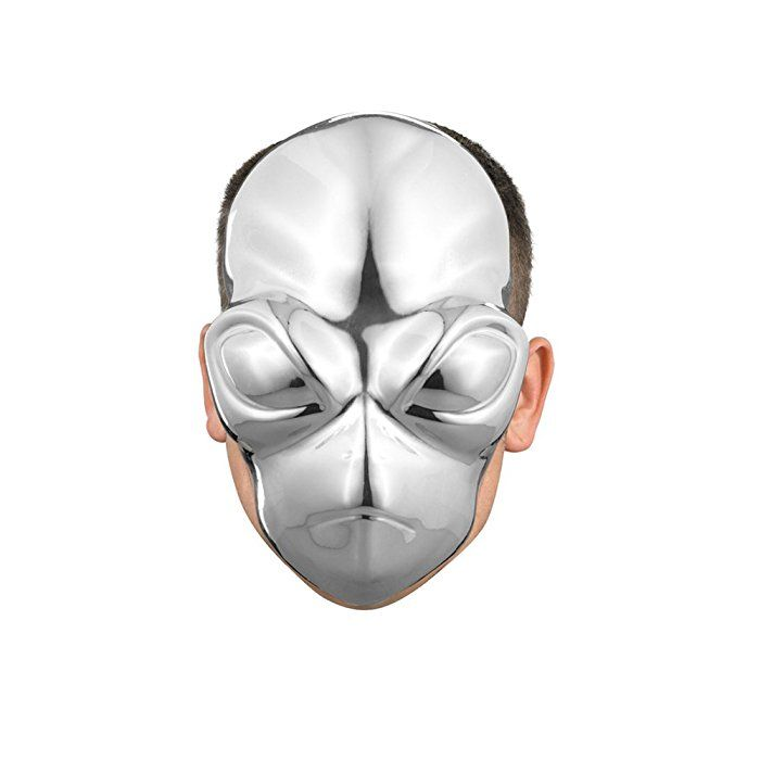 Blank Face Masks To Decorate Disguise Costumes Alien Chrome Mask Adult  Futuristickool