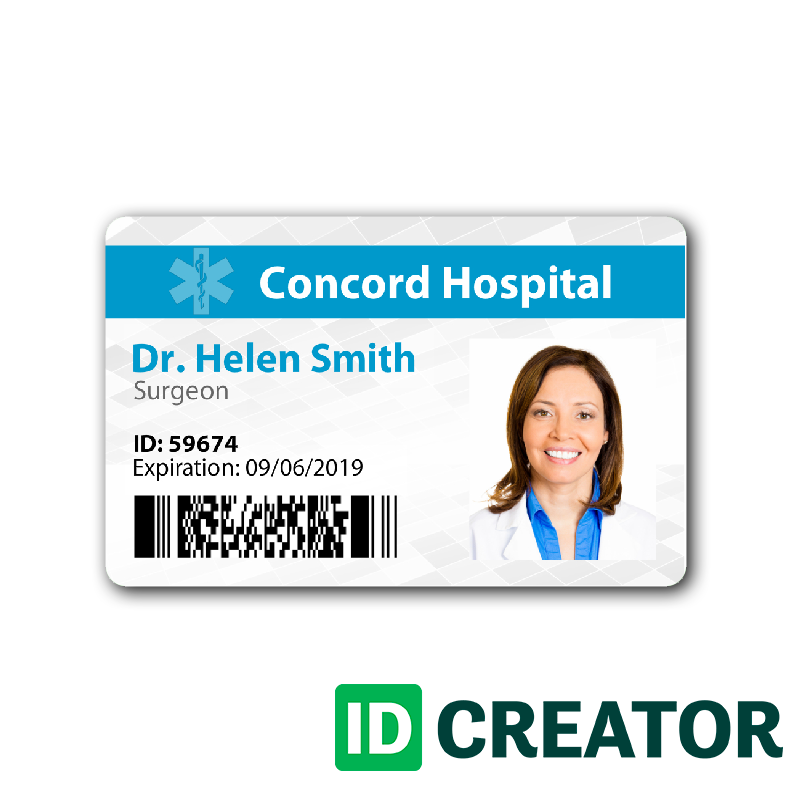 Doctor Id Card 1 Id Card Template Free Business Card Templates Card Templates Printable