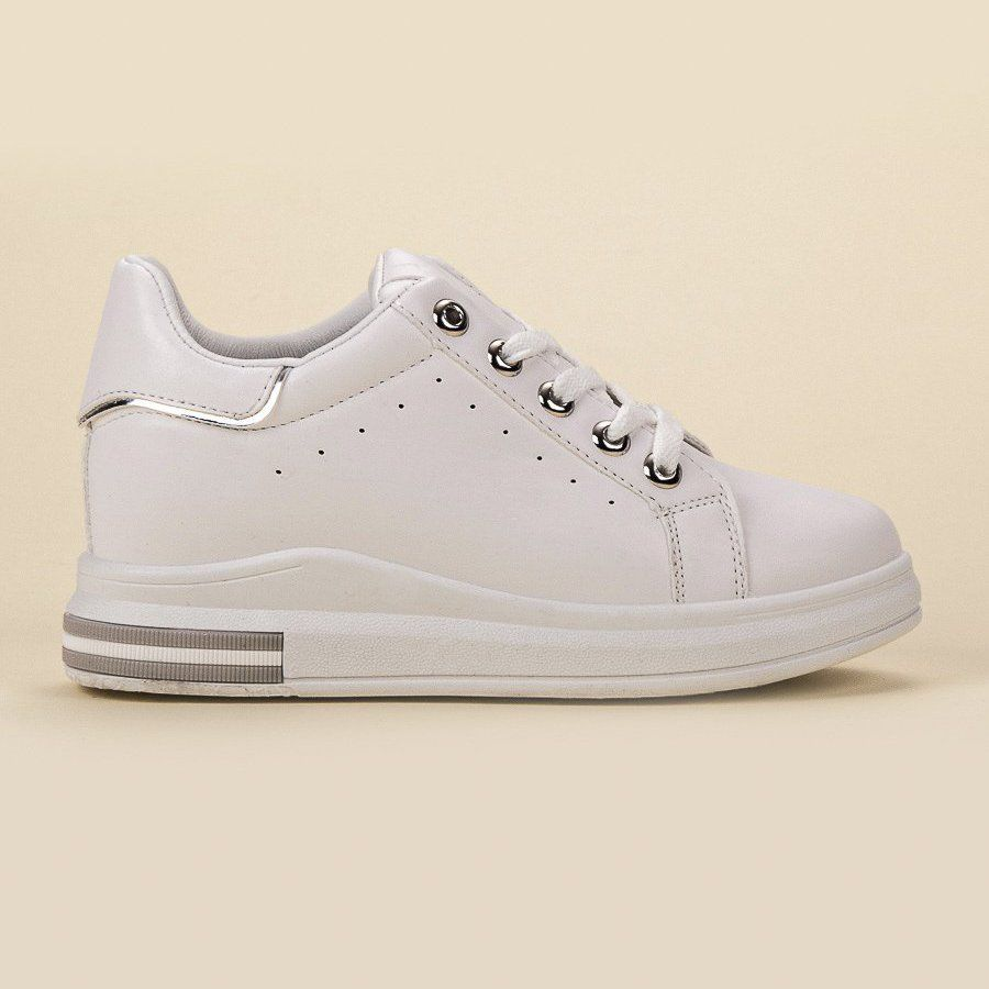 Shelovet Sneakersy Na Koturnie Biale Shoes Sneakers Louis Vuitton