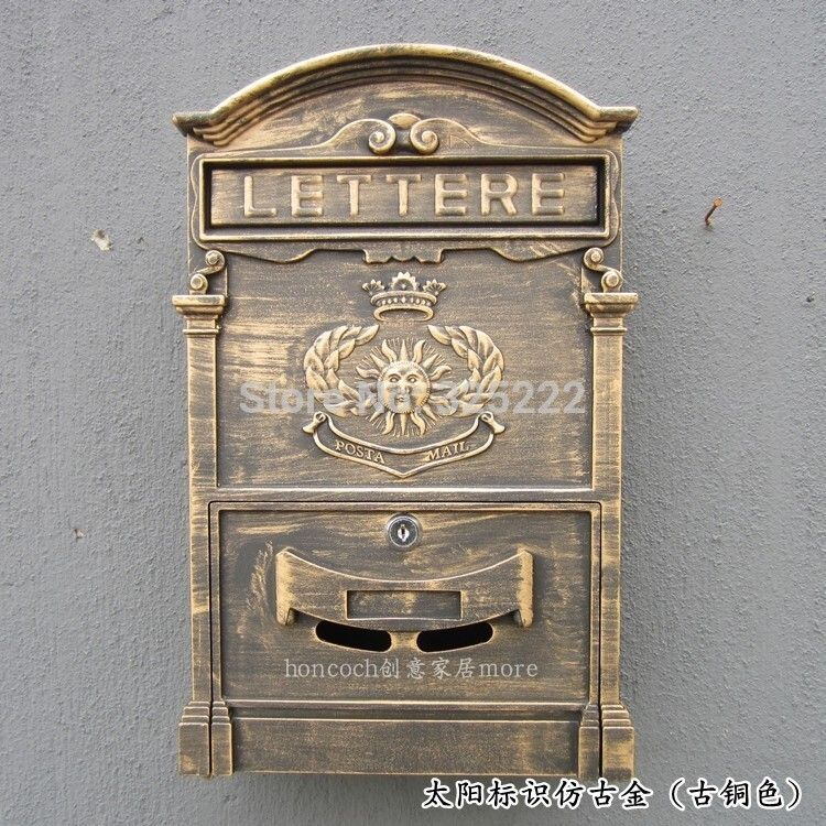 Compare Prices On Steel Letter Boxes Online Shopping Buy Low Price Steel Letter Boxes At Factory Price Al Vintage Mailbox Wall Mount Mailbox Mounted Mailbox