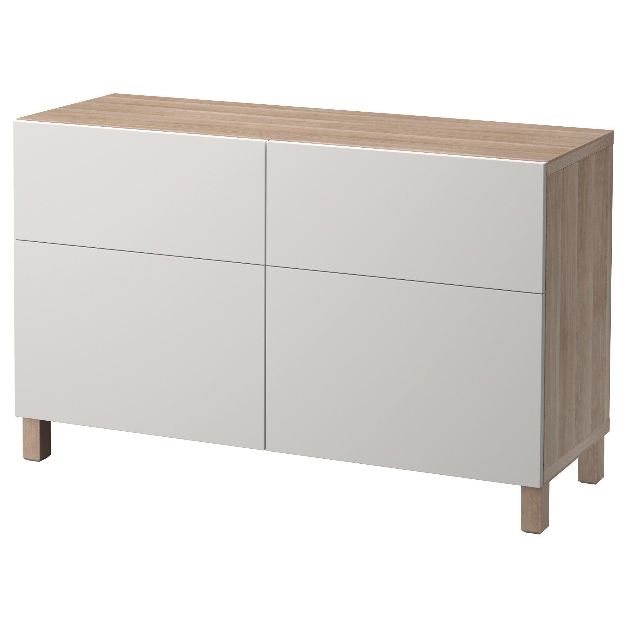 Besta Storage Combination W Doors Drawers Walnut Effect Light Gray Lappviken Light Gray 47 1 4x15 3 4x29 1 8 In 2020 Ikea Living Storage Drawers
