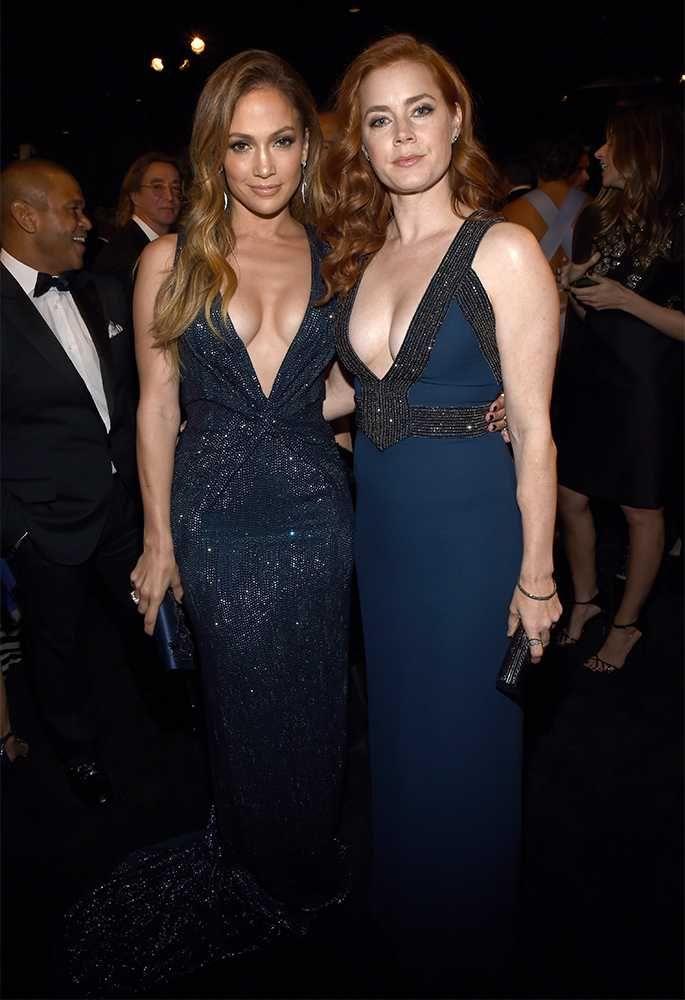Jennifer Lopez and Amy Adams, both in Gucci at the LACMA Art + Film Gala, November 2014.