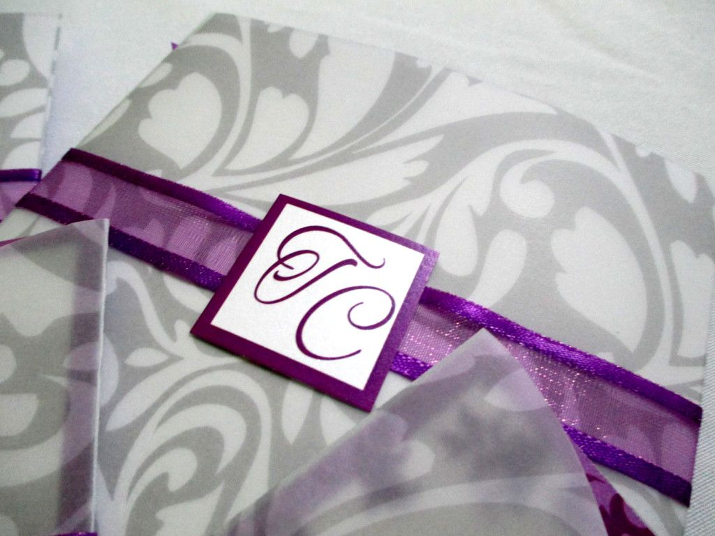Invitación Solapa Cuadrada BOINV06   Invitaciones de Boda Costa Rica
