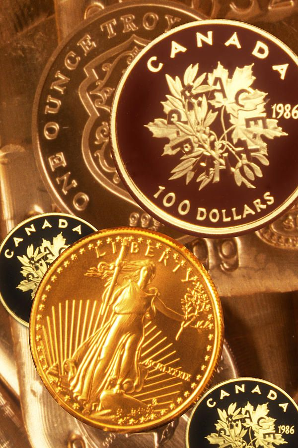 One Troy Ounce Us And Canadian Gold Coins By Lyle Leduc Canadian Gold Coins Gold Bullion Gold Coins