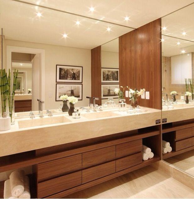 Espejos grandes ba os en 2019 ba os modernos cuarto - Cuartos de bano grandes ...