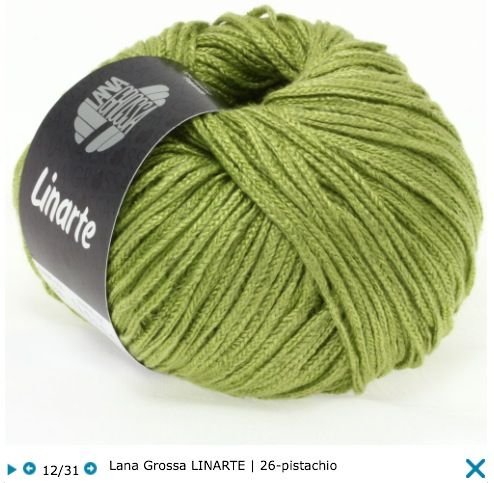 Lana Grossa Linarte Trendy cotton/linen classics, 40% viscose, 30% cotton, 20% linen, 10% polyamide, RL = approx 137yd/125m/50g/1 all, knitting needles size 4 - 4,5