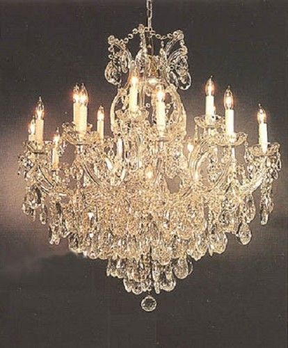 Light Goldish Frame Maria Theresa Two Tier Chandelier With Tear - Chandelier crystals ebay
