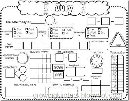 Kindergarten Reading A Calendar Worksheet Free Worksheets Library ...