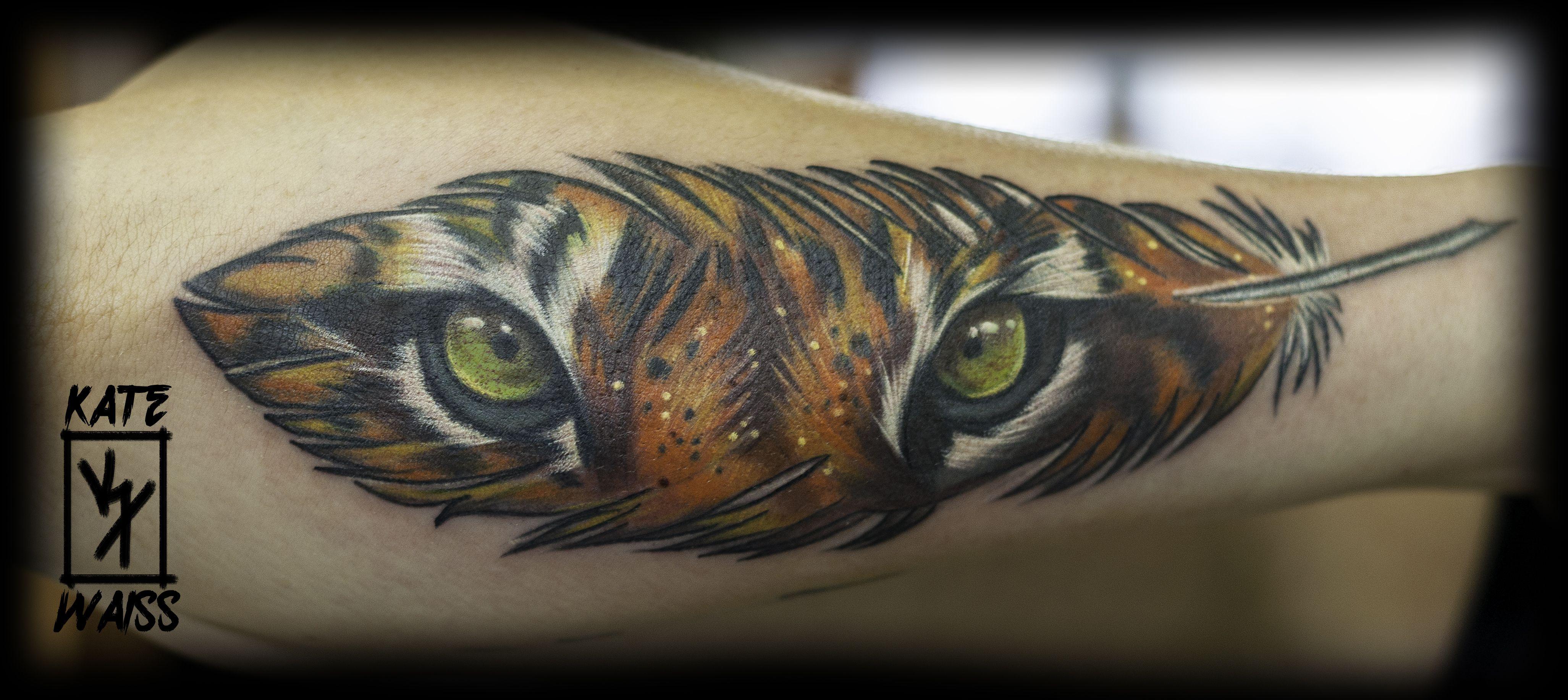 Feather Eyes Tiger Tattoo Tiger Eyes Tattoo Eye Tattoo Inner Arm Tattoo