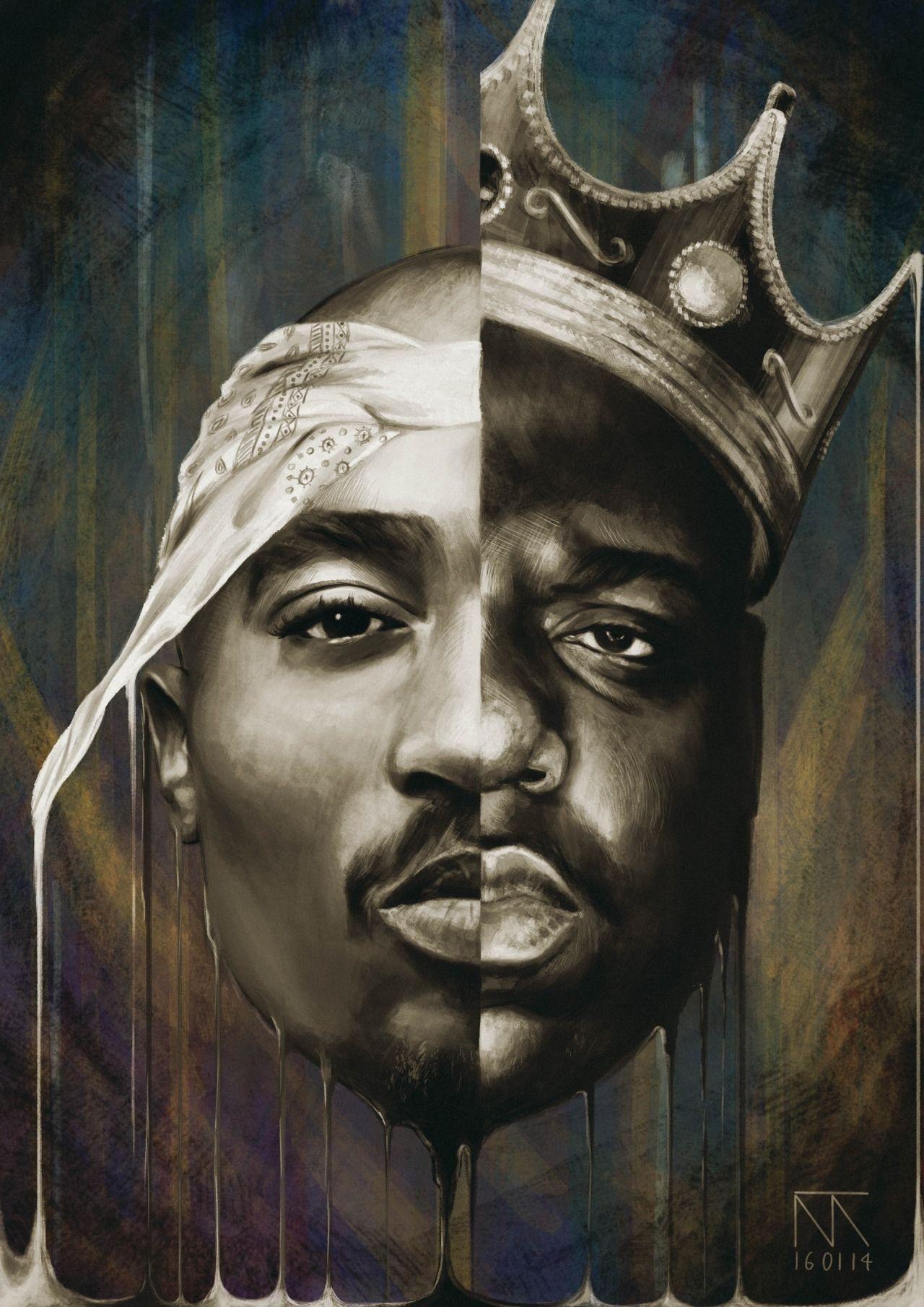D098 Hip Hop Music Last Supper 2pac Tupac Biggie Smalls Notorious Poster Decor