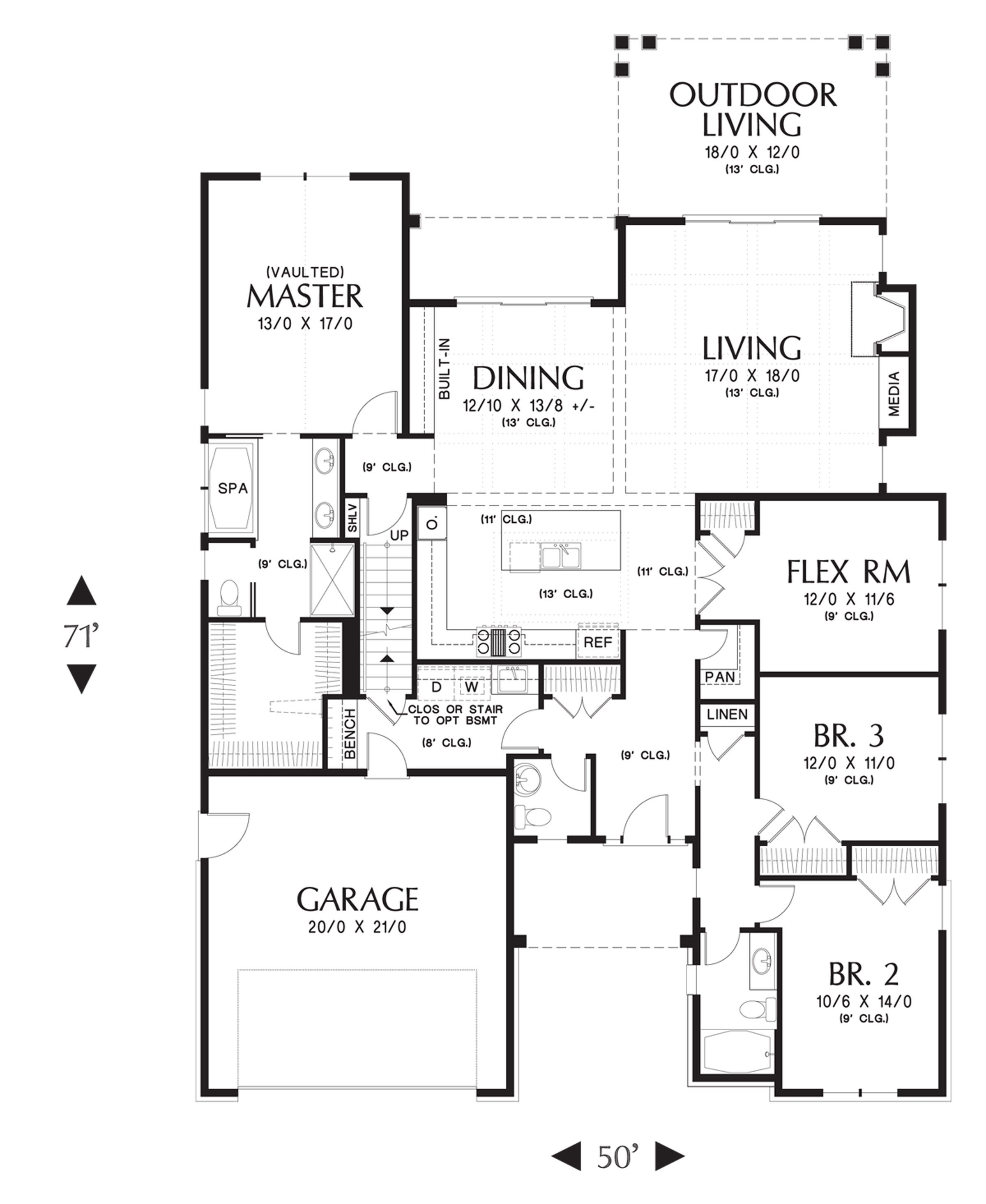 The Cotswolder House Plan has 4BR and 2 5BA and a great open