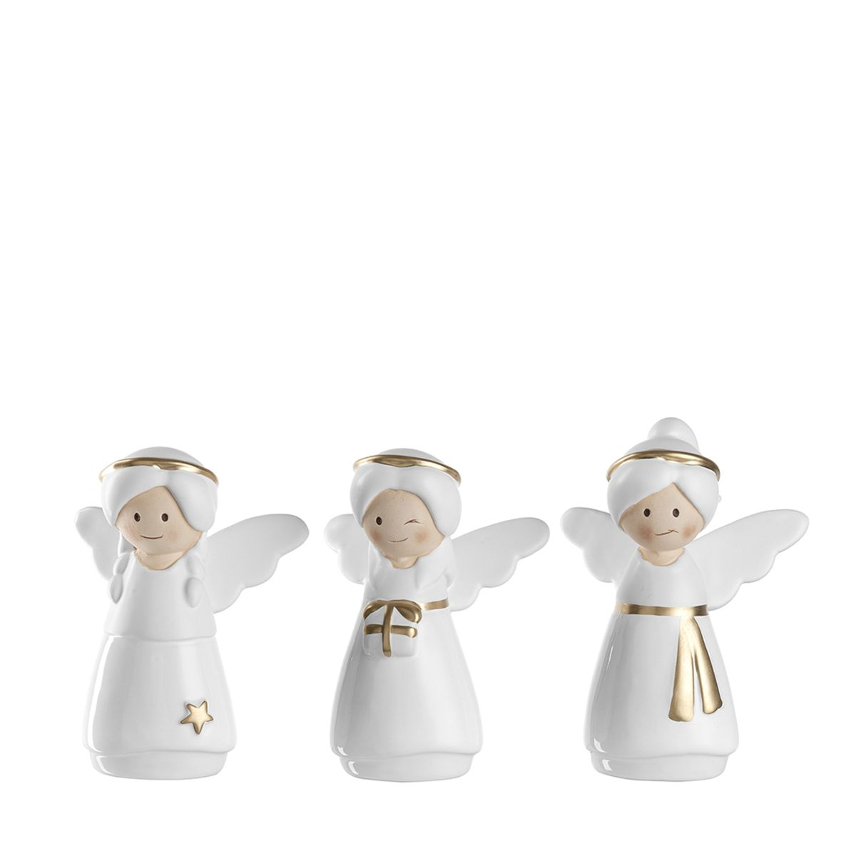 Noël or et blanc   Figurines anges