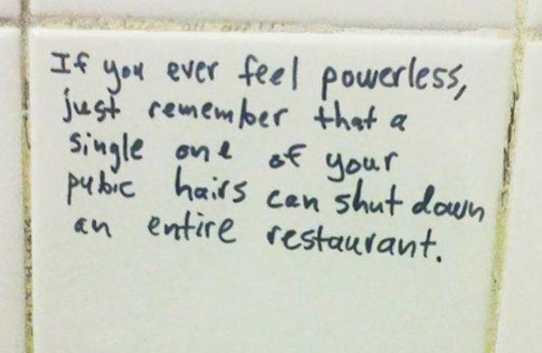 Bathroom Stall Wisdom 15 insightful pieces of bathroom graffiti too good to ignore