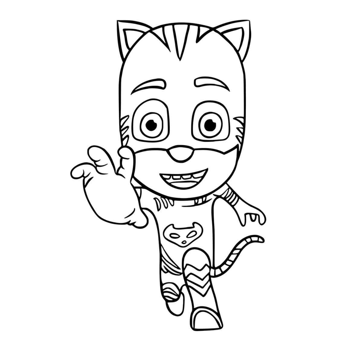 Free coloring pages pj masks - Pj Masks Party Printables For Free