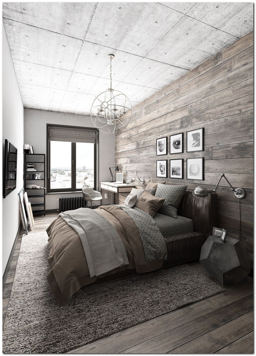 Nice 70+ Ideas For Industrial Bedroom Interior