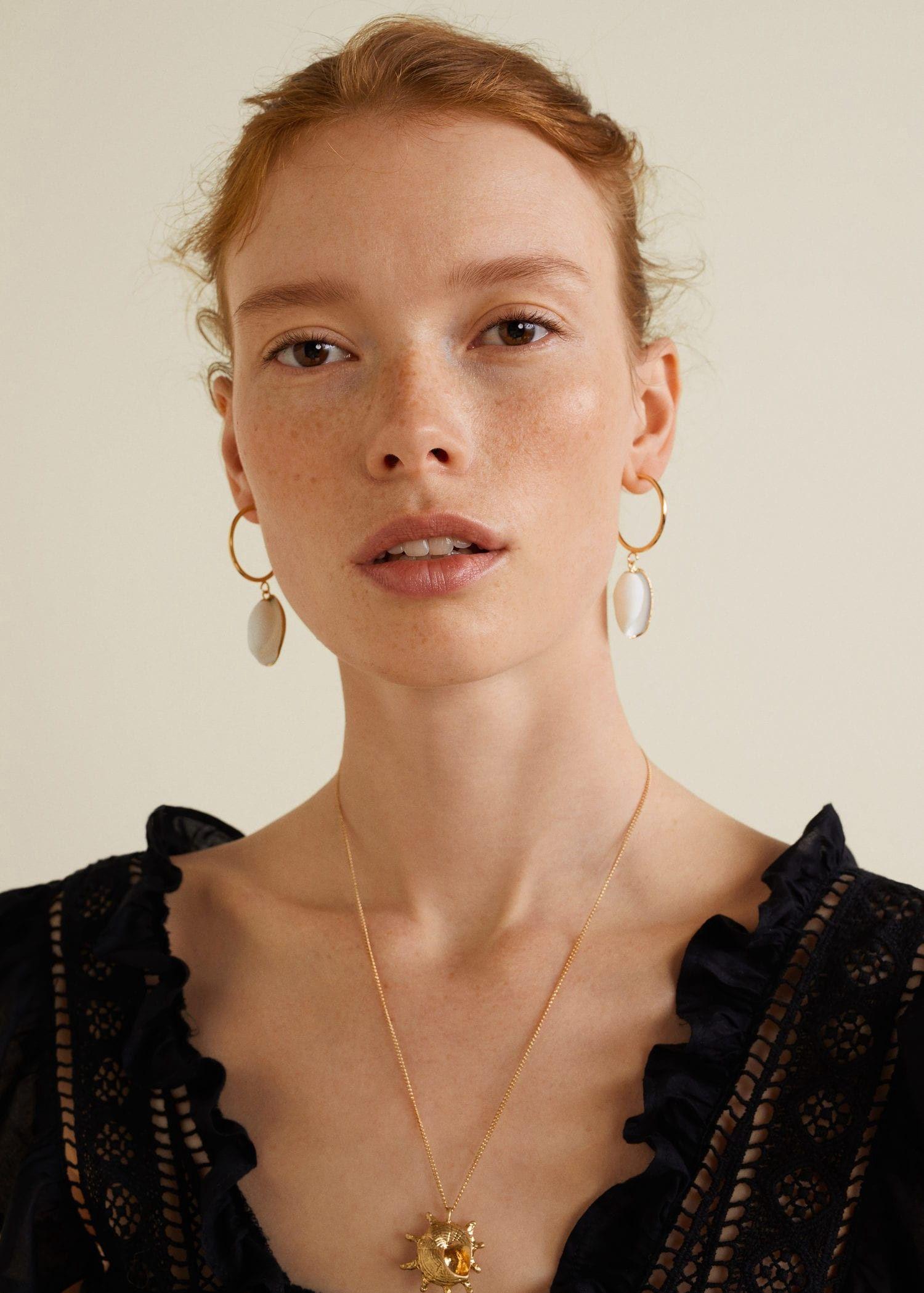 Mango S Hoop Earrings Women Gold One Size