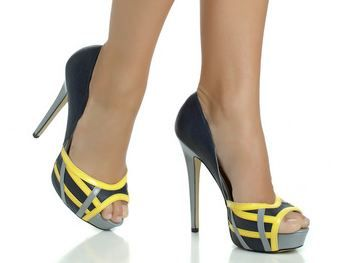 what shoes go with this dress yellow and grey wedding yellow pumps