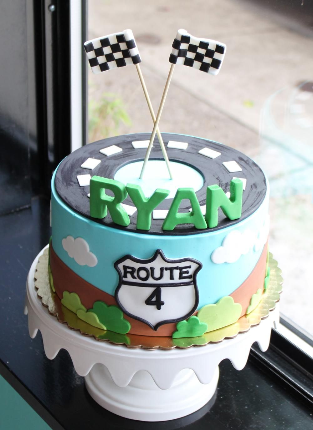 Car Racing Birthday Cake | Whipped Bakeshop
