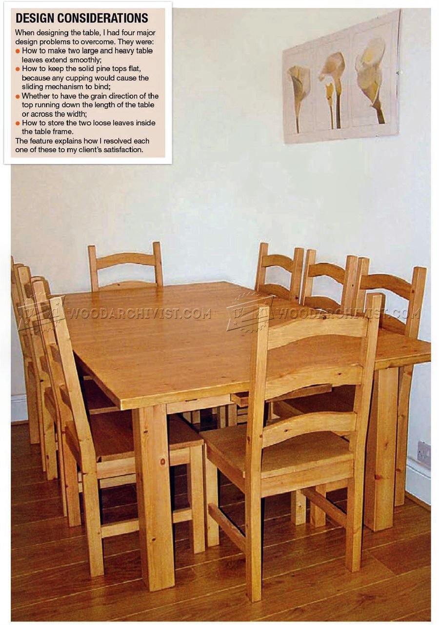 1012 Pine Dining Table And Chairs Plans  Furniture Plans  Chairs Best Pine Dining Room Table And Chairs Review