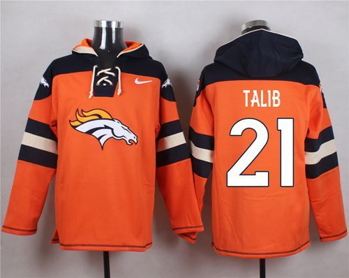 Nice Nike Broncos #21 Aqib Talib Orange Player Pullover NFL Hoodie | Nike  supplier