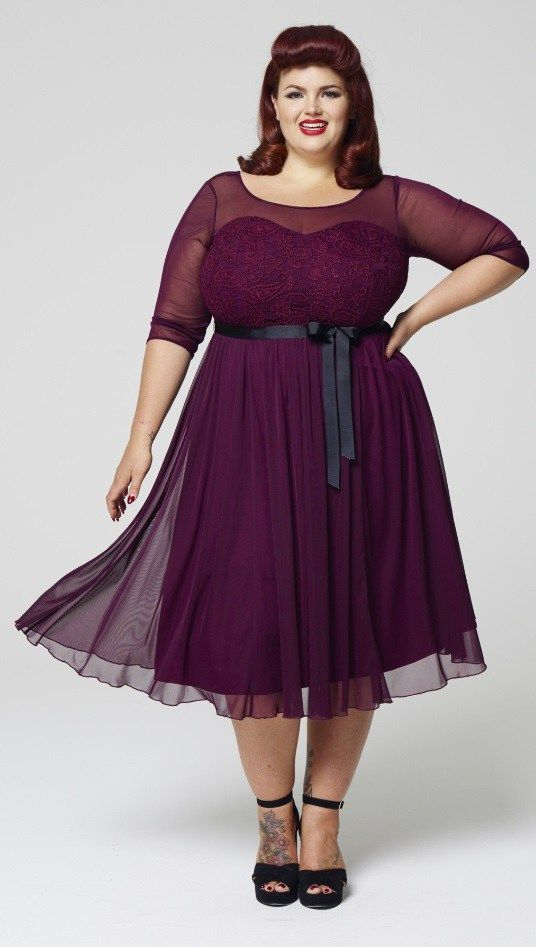 f216d38d0 27 Plus Size Wedding Guest Dresses {with Sleeves} - Plus Size Fashion for  Women - alexawebb.com #alexawebb
