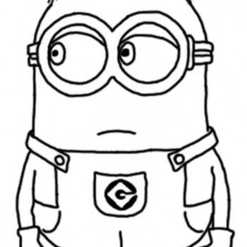 Minions coloring pages peace minion ~ Dave The Minion Despicable Coloring Pages | cakes | Minion ...