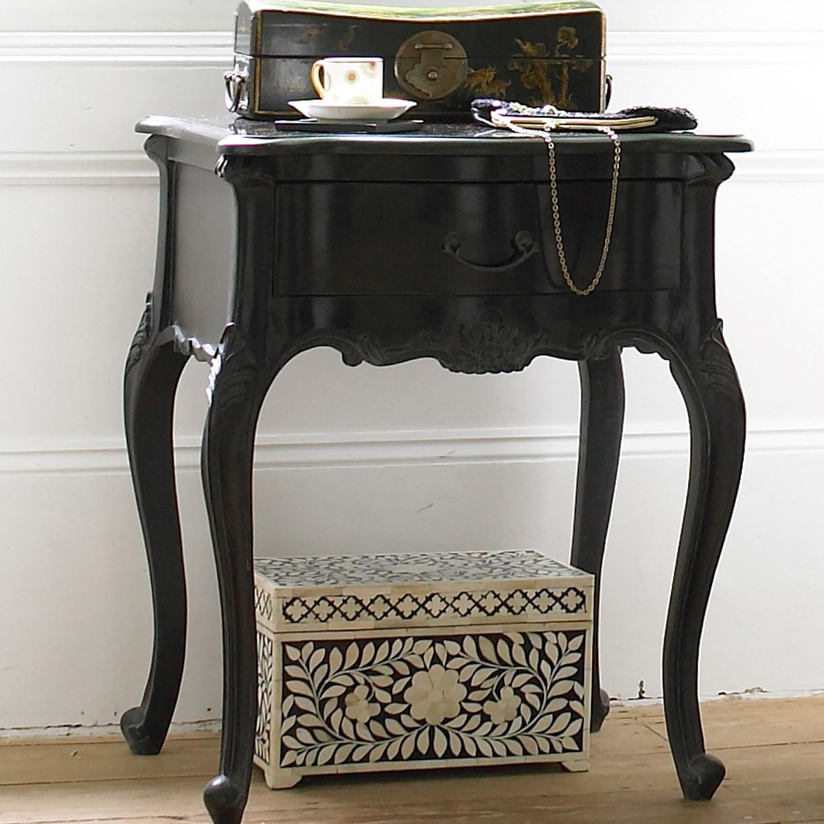 Black french bedroom decor - Sassy Boo Black Bedside Table Black Bedside Tablesfrench Bedroomsmaster Bedroomsvintage Style