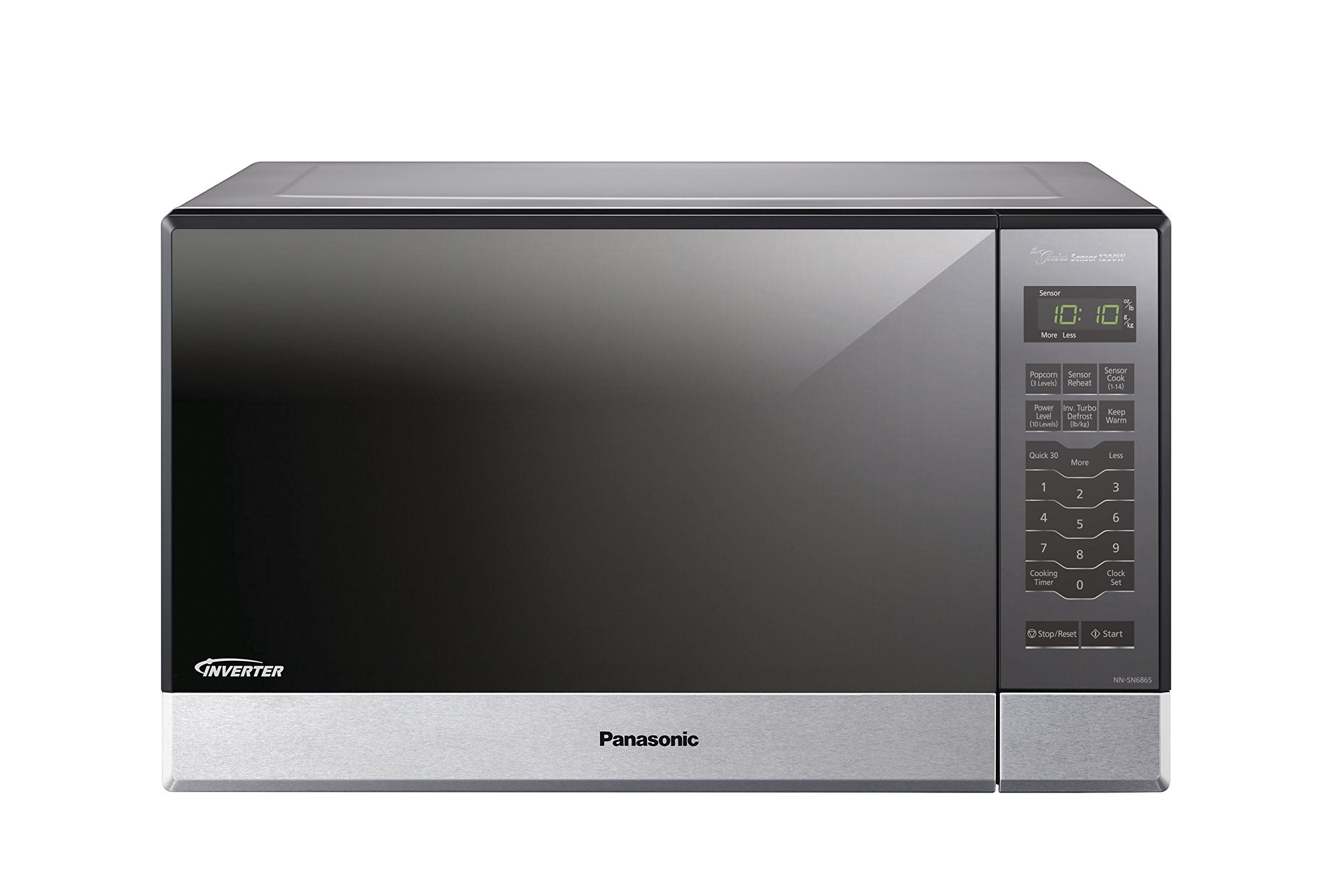 Panasonic Nnsn686s Countertop Builtin Microwave With Inverter Technology 1 2 Cu Ft 1200w Built In Microwave Panasonic Microwave Oven Built In Microwave Oven