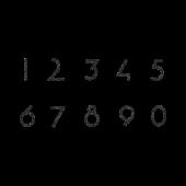 おしゃれ で かっこいい 数字 の手書き 風 スタンプ 白黒 イラスト 数字デザイン 数字 かっこいい数字デザイン