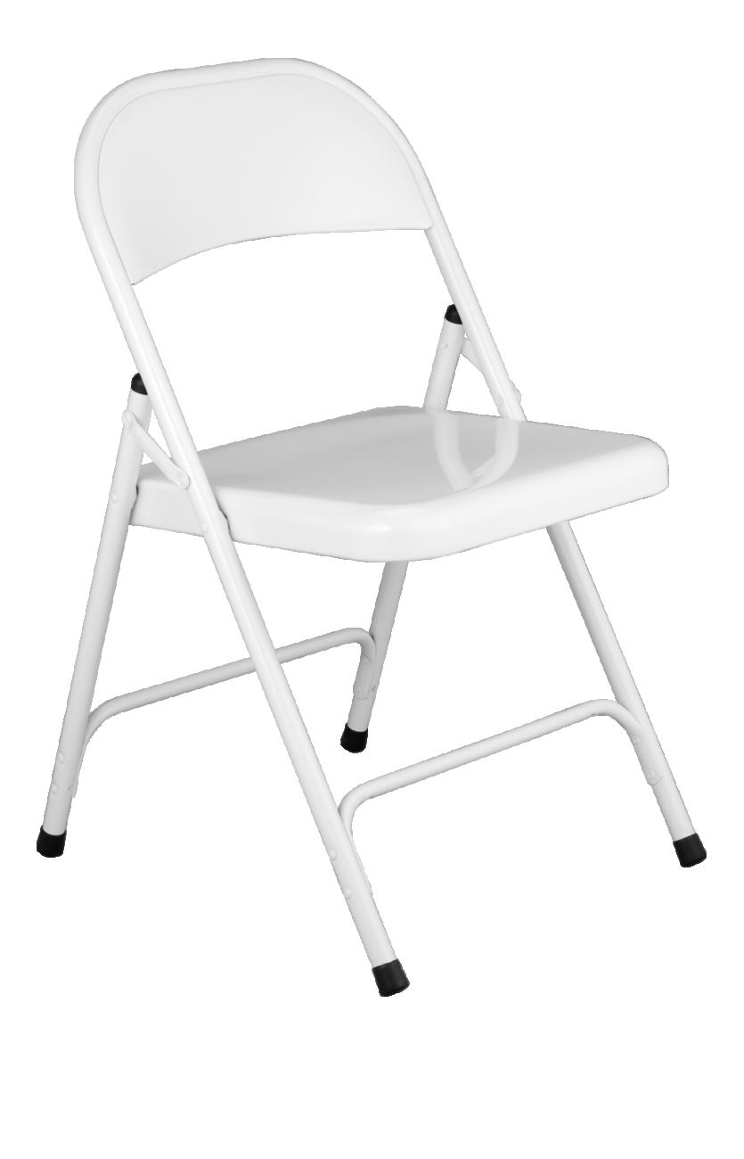 Macadam Chaise Pliante Blanche En Acier Laque Chaise Pliante Chaise Chaise Metal