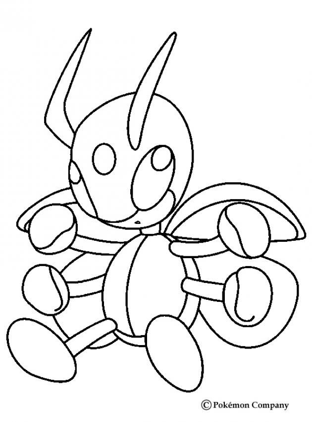 Ledian Pokemon Coloring Page More Bug Pokemon Coloring Pages On