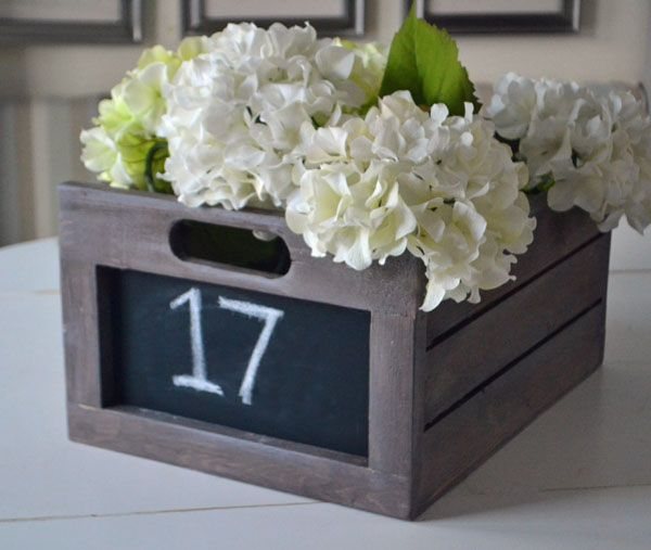 I am going to make this but with a more solid bottom Ana White | Build a Chalkboard Produce Crate | Free and Easy DIY Project and Furniture Plans