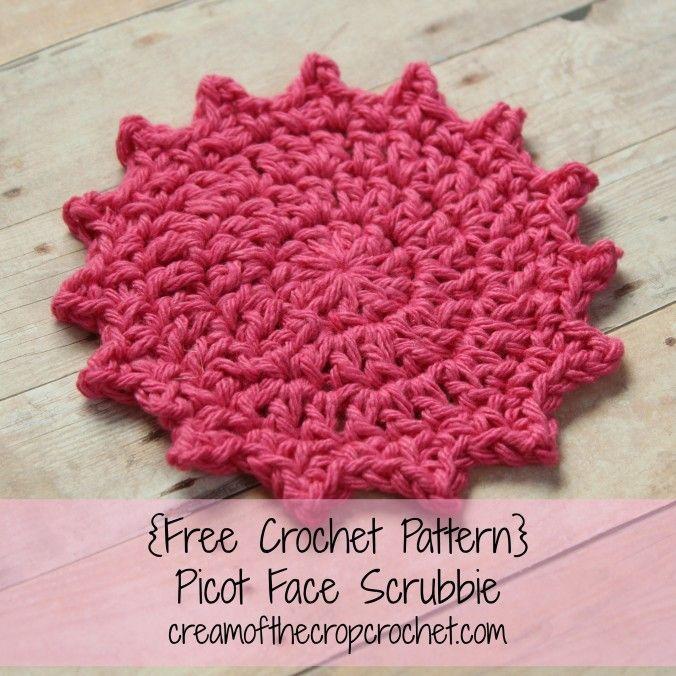 Cream Of The Crop Crochet ~ Picot Face Scrubbie {Free Crochet ...