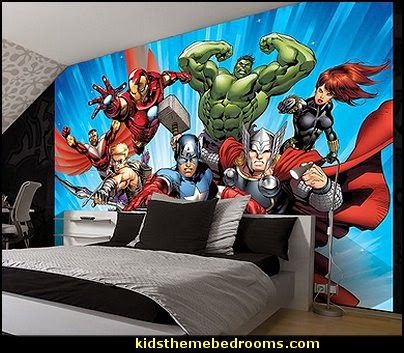 Marvel avengers assemble 2 comic wallpaper mural random for Comic book wallpaper mural