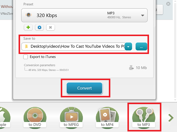 Convert YouTube to MP3 using this free software or online