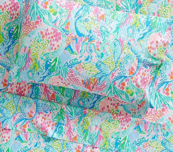 Lilly Pulitzer For Pottery Barn Mermaid Bedding Mermaid