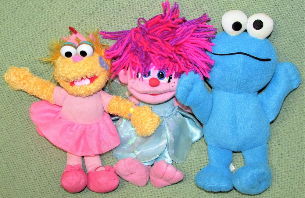 1a81463b1cfb Details about Sesame Street ZOE Abby Cadabby Cookie Monster Plush ...