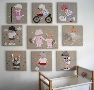 Stencil barcelona cuadros infantiles personalizados y - Decoracion infantil barcelona ...