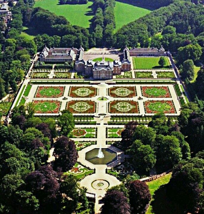 Het Loo Palace Apeldoorn The Netherlands Aerial View Apeldoorn Beautiful Gardens