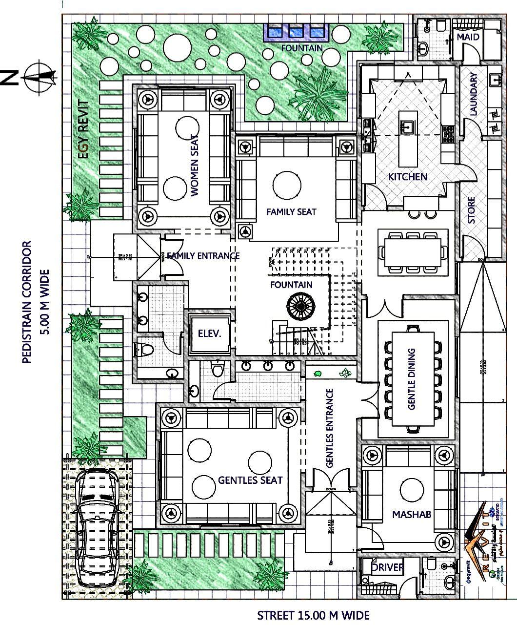 تصميم فيلا سكنية نيو كلاسيك مسقط أفقي للدور من تصميم ايجي ريفيت Classic House Exterior New House Plans Classic House Design