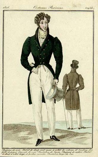mens fashion plate 1826 2 1820s in western fashion