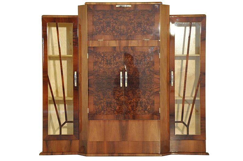 Art Deco, Barsschrank, Kommode, Sideboard, Bar, Walnuss, Moebel - schrank für wohnzimmer