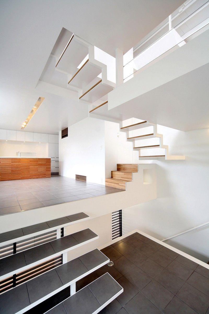 House In Senri By Shogo Iwata Interior Architecture Design Home Interior Stairs