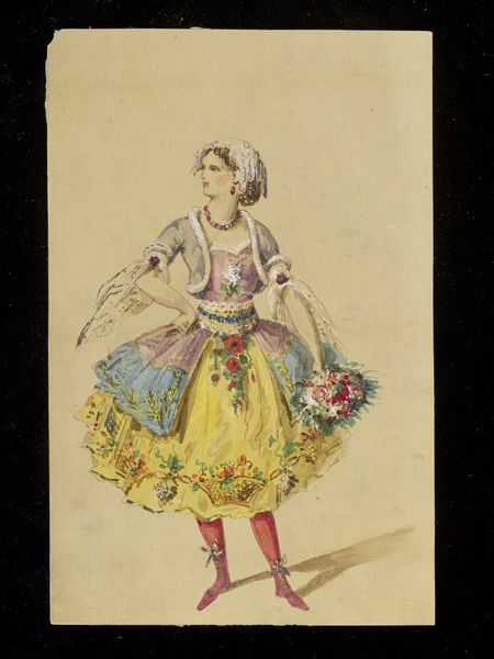 Design for a fancy-dress costume | Marre, Jules | V&A Search the Collections