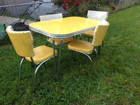 Nice Vintage Retro 50u0027s 60u0027s Formica Drop Leaf Kitchen Table And Chairs ... |  Nifty 50u0027s Furnishings U0026 Appliances | Pinterest | Leaves, Retro And DIY  Furniture
