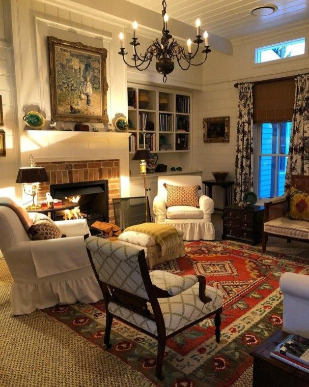 38 Cool French Country Living Room Decorating Ideas images