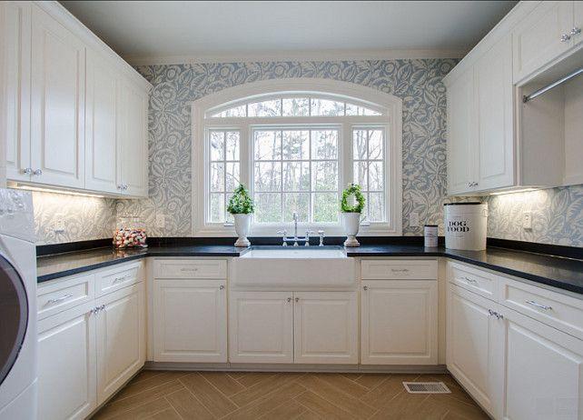 Laundry Room Laundry Room Design Ideas Spacious Laundry Room With Custom Cabinets Wallpaper Honed Grani Dream Laundry Room Kitchen Decor Laundry Room Decor