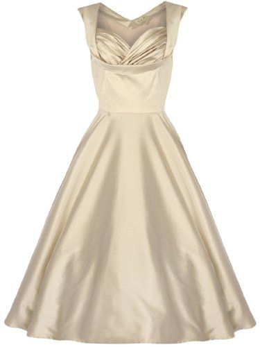 Champagne gold color swing dress