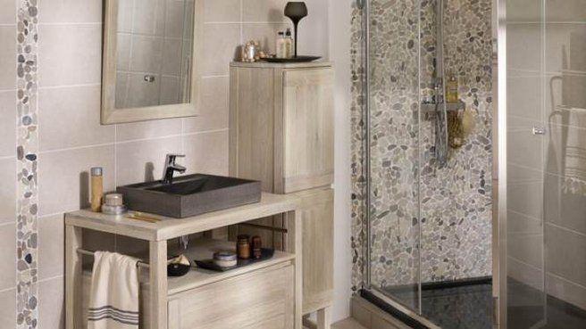 carrelage verre mosaique douche salle de bain galet dune ...